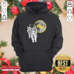 Great 1 Banano Monkey To The Moon Hoodie - Design By Handstee.com