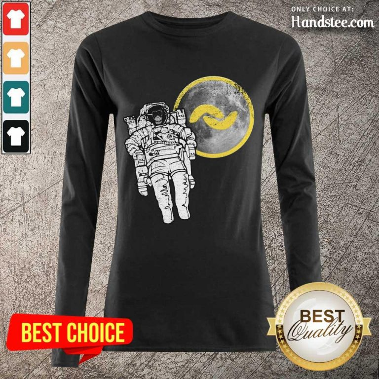 Great 1 Banano Monkey To The Moon Long-Sleeved - Design By Handstee.com