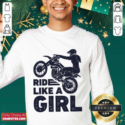 Great 1 Motocross Ride Like A Girl Sweater - Design By Handstee.com