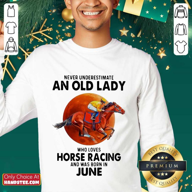 Great 1 Old Lady Who Loves Horse Racing Sweater- Design By Handstee.com