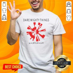 Great 15 Dare Mighty Things Shirt - Design by Handstee.com