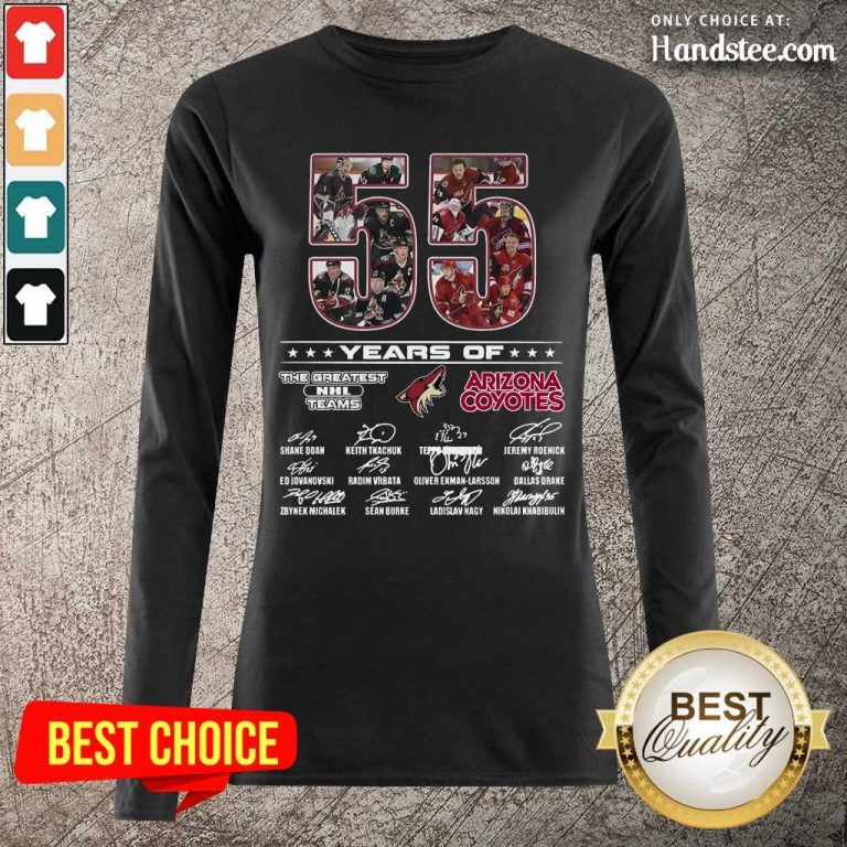 Great 55 Years Of Arizona Coyotes Long-Sleeved - Design By Handstee.com