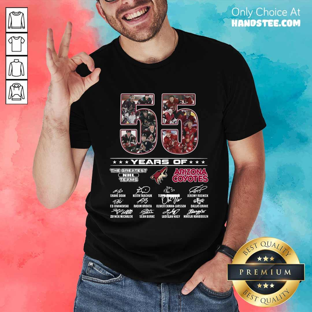 Great 55 Years Of Arizona Coyotes Shirt - Design By Handstee.com