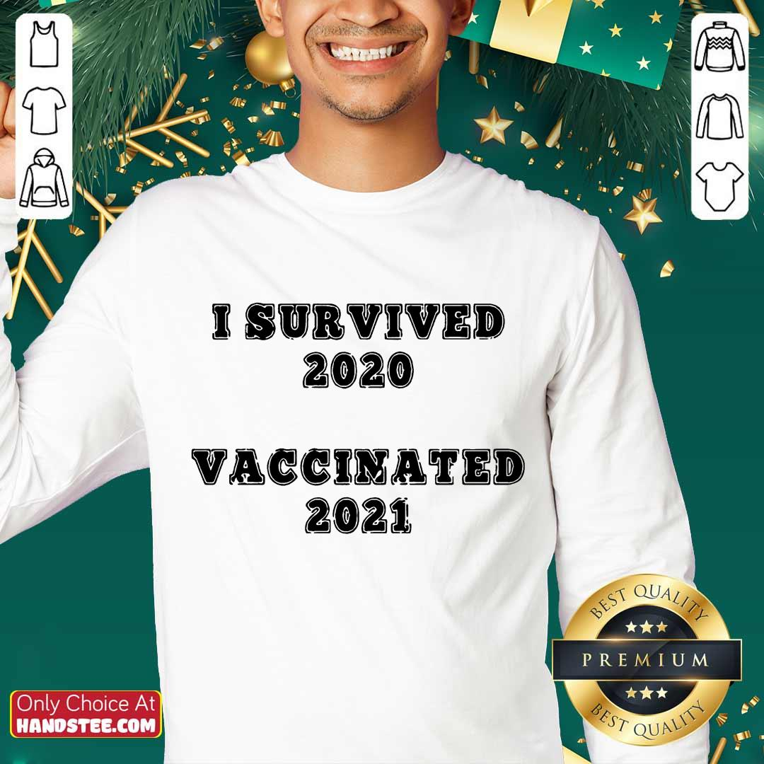 Great I Survived 2020 Vaccinated 2021 Sweater - Design By Handstee.com