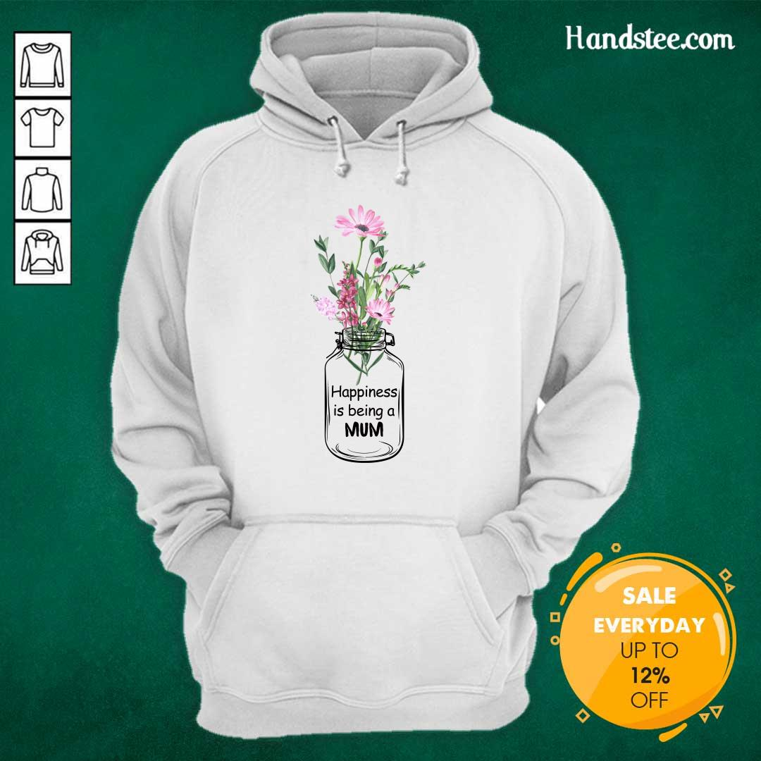 Happiness Is Being A Mum Hoodie - Design by Handstee.com