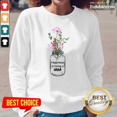 Happiness Is Being A Mum Long Sleeved - Design by Handstee.com