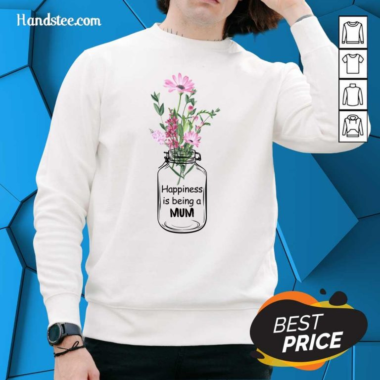 Happiness Is Being A Mum Sweater - Design by Handstee.com