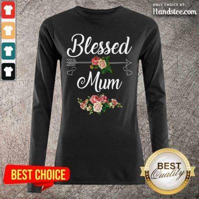Happy Blessed Mum Flower Mother Long Sleeved - Design by Handstee.com