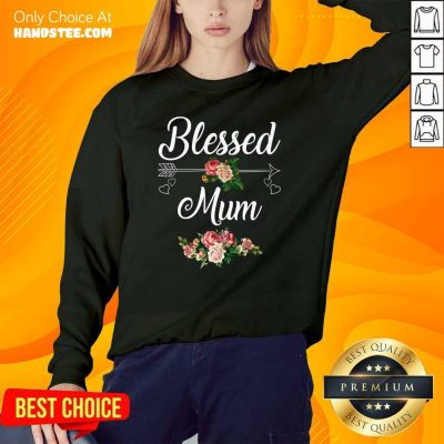 Happy Blessed Mum Flower Mother Sweater - Design by Handstee.com