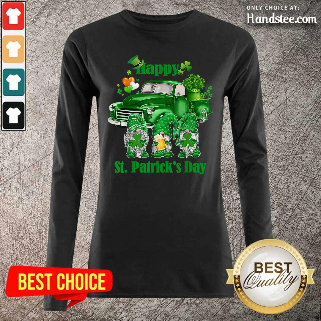 Happy Gnomes 19 St Patricks Day Long-Sleeved - Design by Handstee.com
