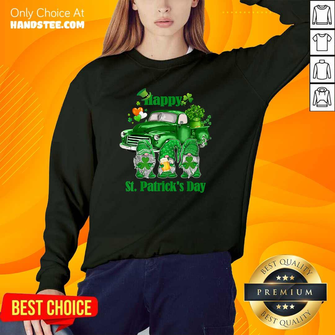 Happy Gnomes 19 St Patricks Day Sweater - Design by Handstee.com