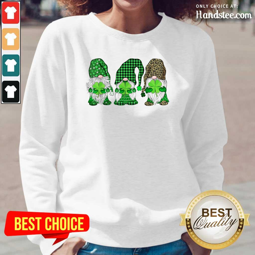 Happy St Patricks Day Three Gnomes Long-Sleeved - Design by Handstee.com