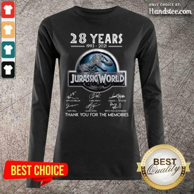 Hot 28 Years 1993 2021 Jurassic World Long Sleeved - Design by Handstee.com