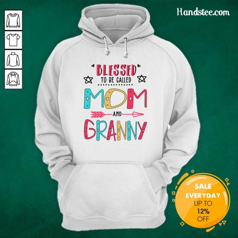 Hot Blessed 4 Granny Mother Hoodie - Design by Handstee.com