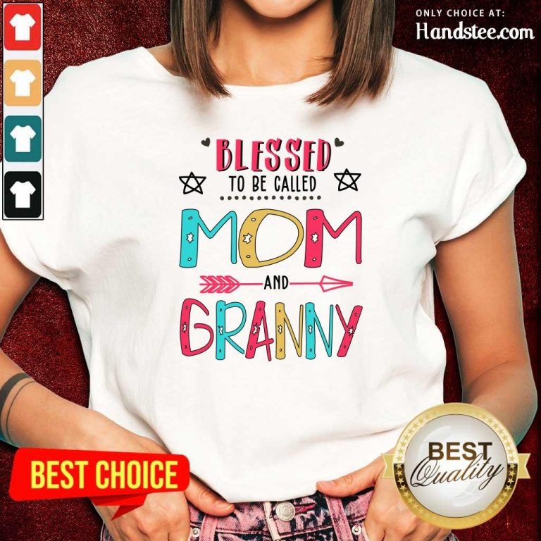 Hot Blessed 4 Granny Mother Ladies Tee - Design by Handstee.com