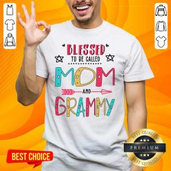Nice Blessed 2 Grammy Mother Shirt - Design by Handstee.com