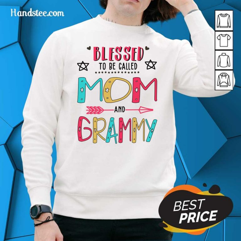 Nice Blessed 2 Grammy Mother Sweater - Design by Handstee.com