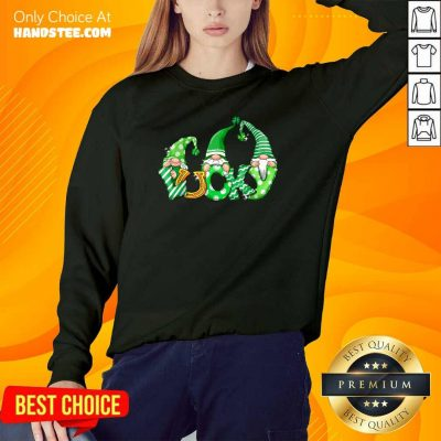 Nice St Patricks 89 Lucky Lucky Gnome Sweater - Design by Handstee.com