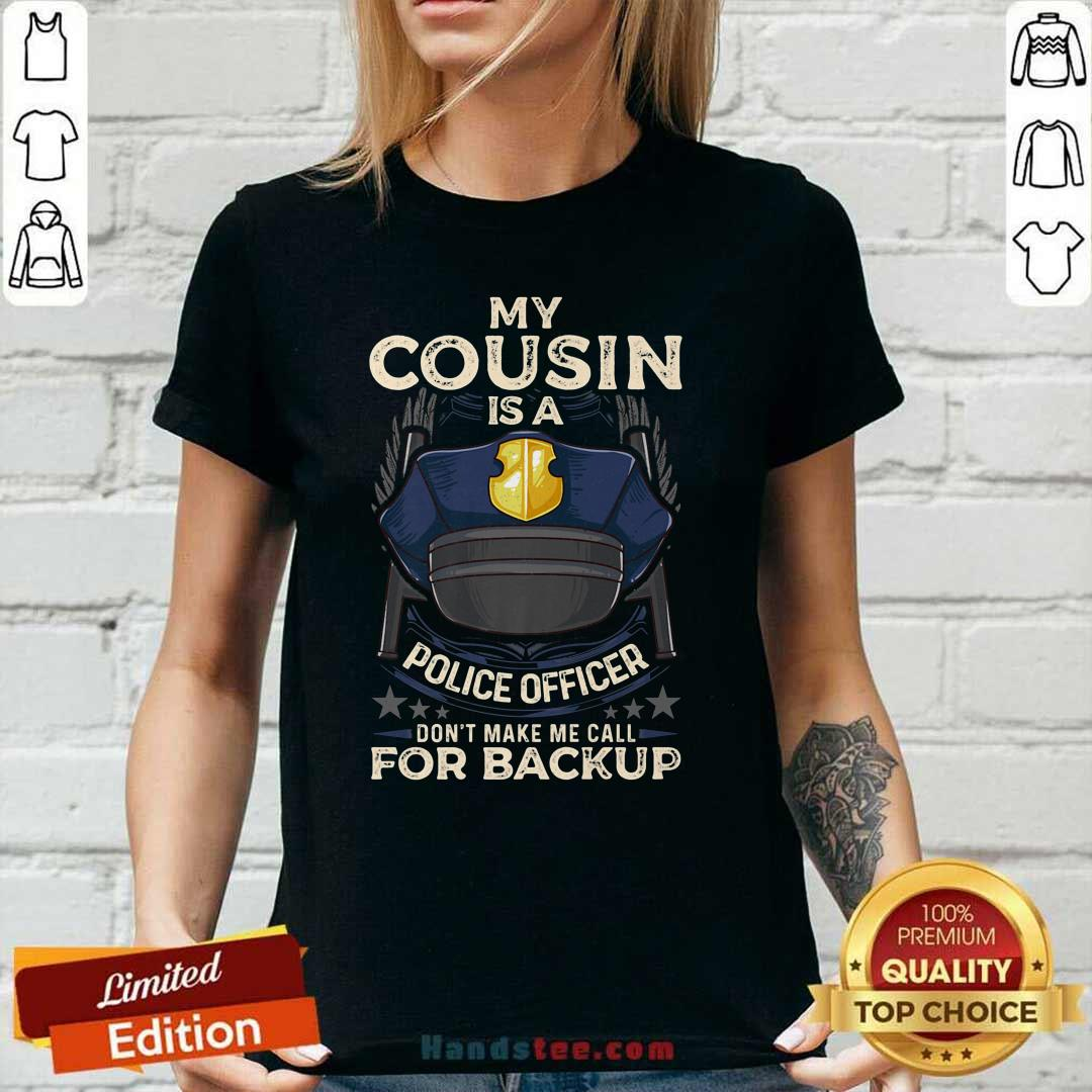 Perfect Cousin Is Police Officer 16 Ladies Tee - Design by Handstee.com
