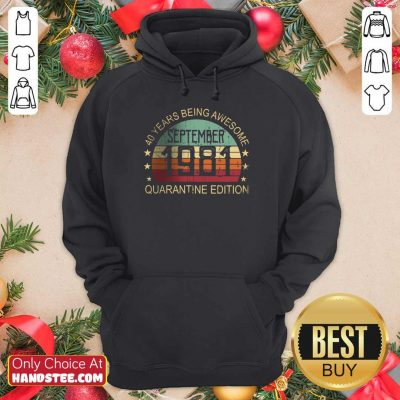 Positive 40 Years Edition September Hoodie - Design By Handstee.com