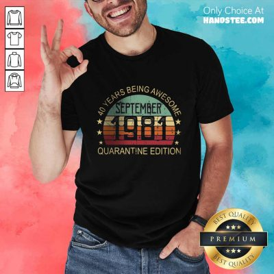 Positive 40 Years Edition September Shirt - Design By Handstee.com