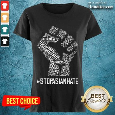 Positive Stop Asian Hate Hand Brothers Ladies Tee
