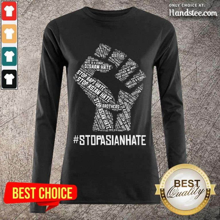Positive Stop Asian Hate Hand Brothers Long-Sleeved