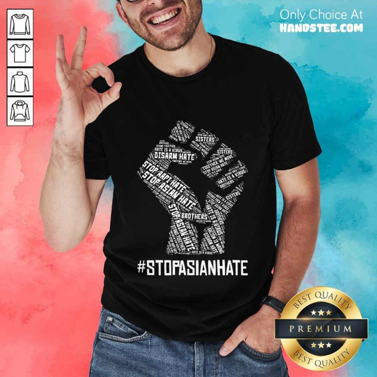Positive Stop Asian Hate Hand Brothers Shirt