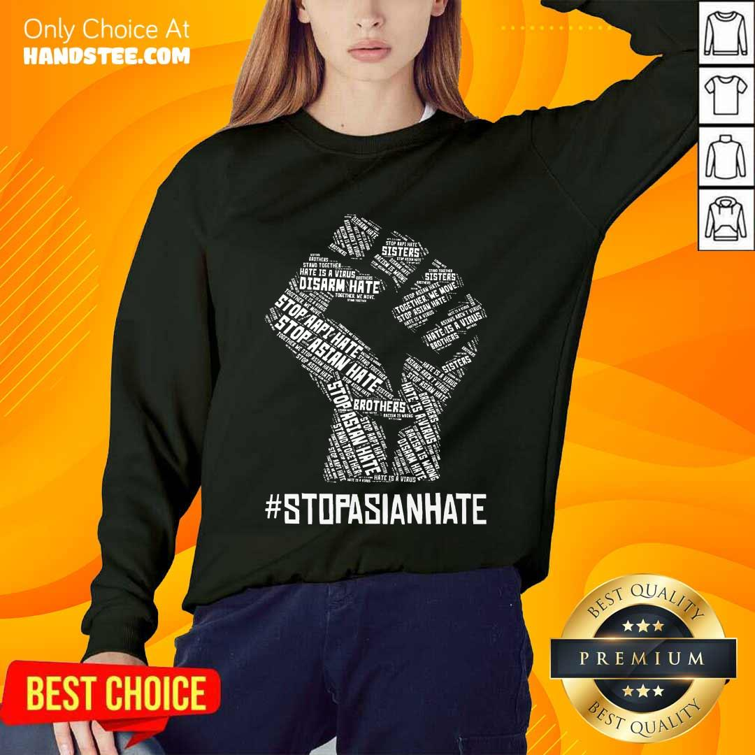 Positive Stop Asian Hate Hand Brothers Sweater