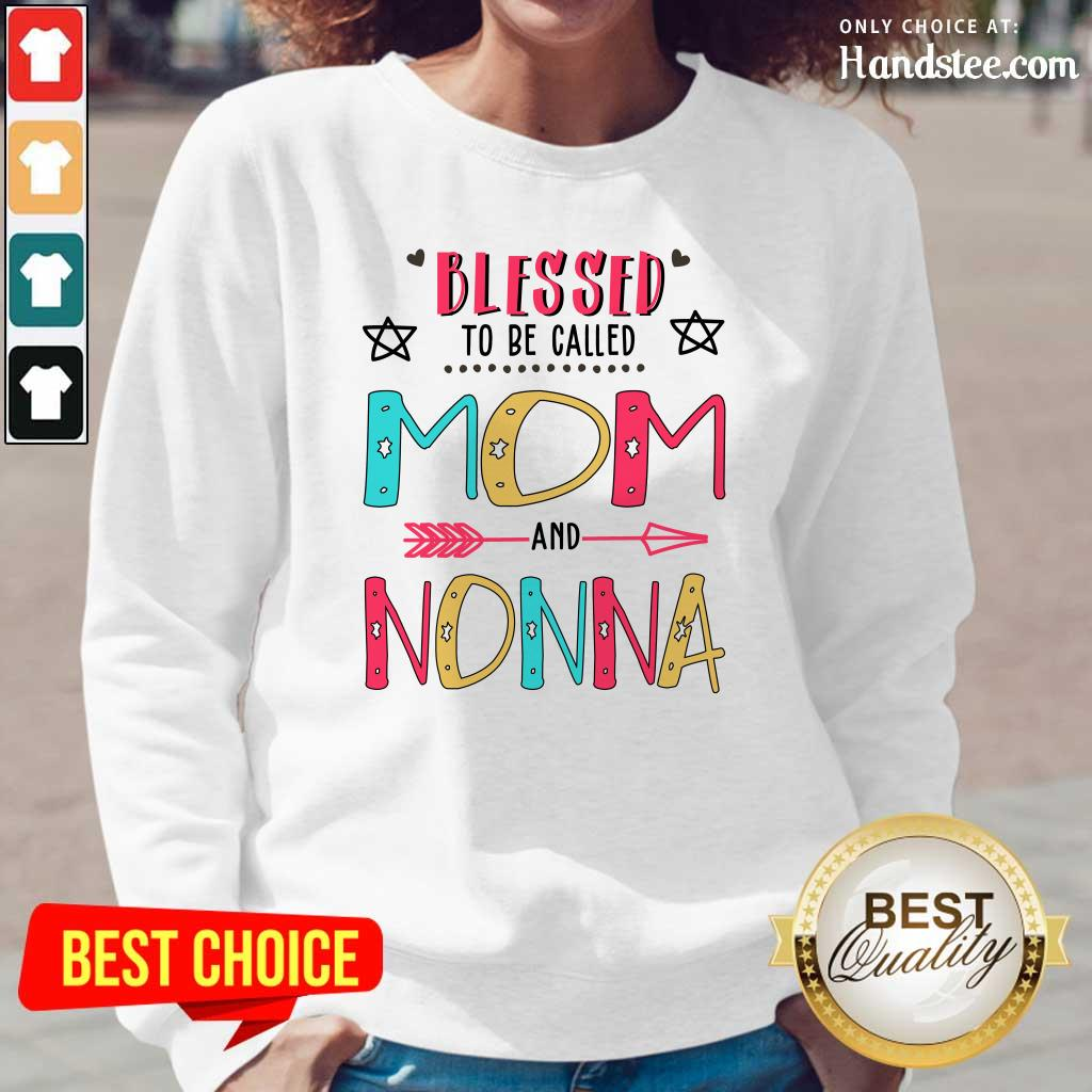 Pretty Blessed 8 Nonna Mother Long Sleeved - Design by Handstee.com