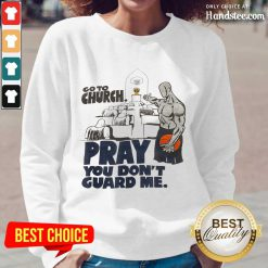 Relaxed Church Pray Guard Me Basketball Long-Sleeved