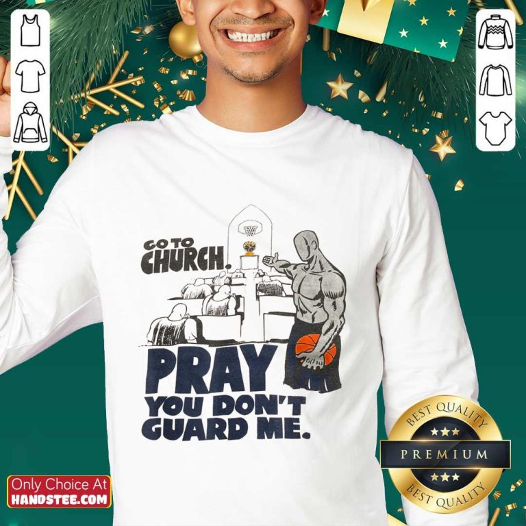 Relaxed Church Pray Guard Me Basketball Sweater