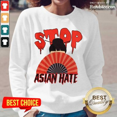 Relaxed Stop Asian Hate Japanese Girl Long-Sleeved