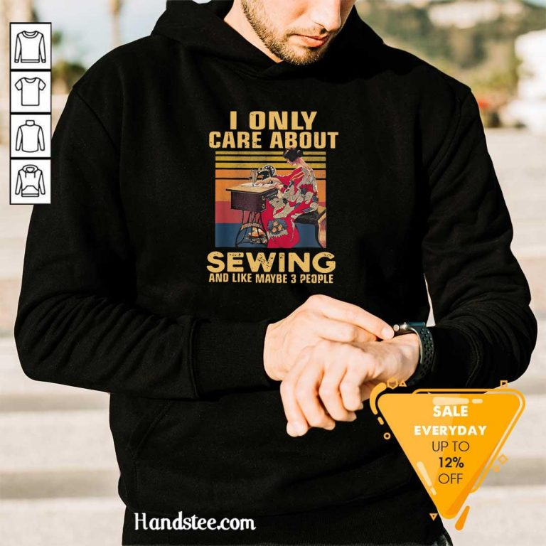 Shocked Only Care About Sewing 84 Hoodie - Design by Handstee.com