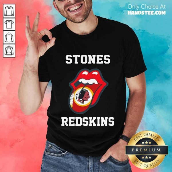 Super Amused The Stones Redskins 2021 Shirt - Design By Handstee.com