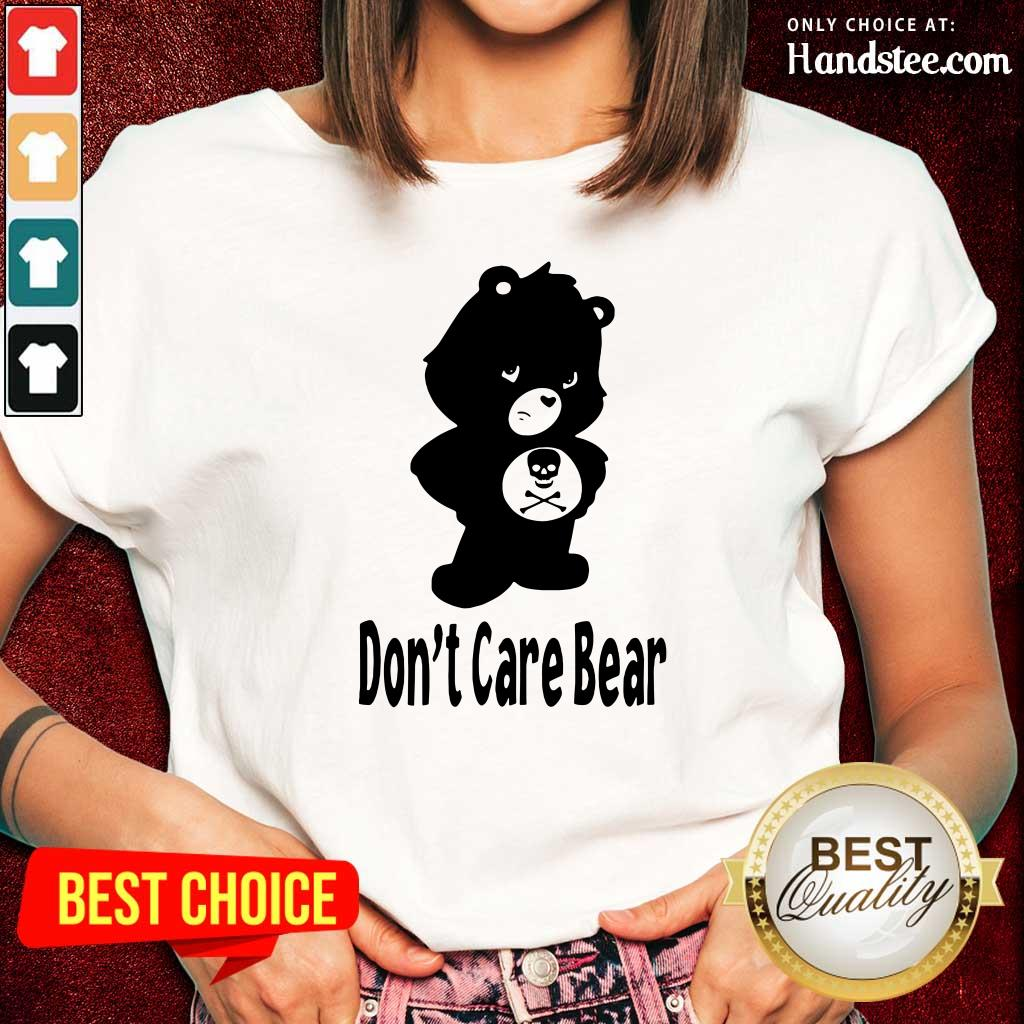 Surprised 7 Dont Care Bear Ladies Tee  - Design by Handstee.com