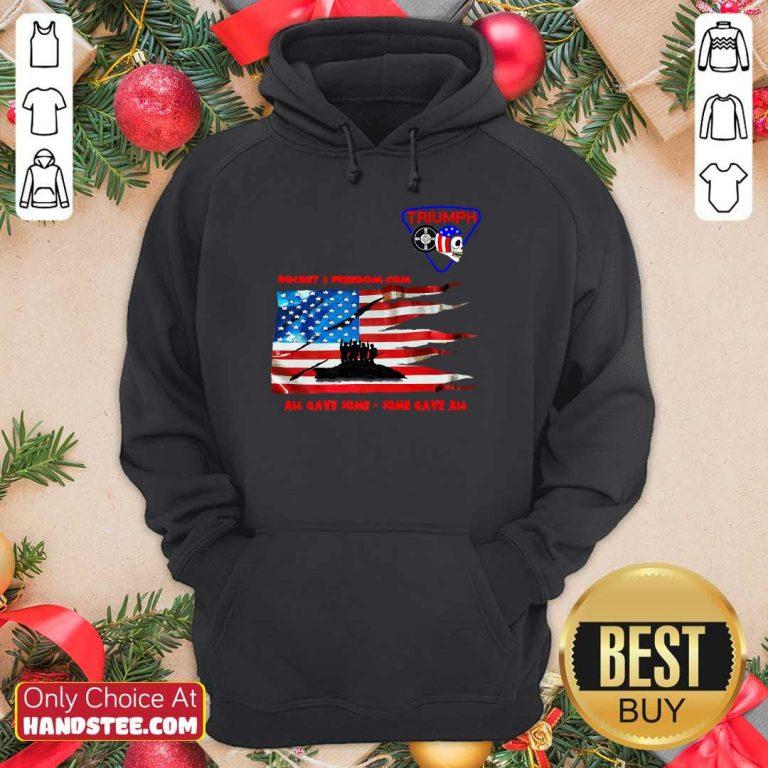 Terrific Rocket 3 Freedom American Flag Hoodie