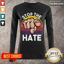 Terrific Stop Asian Hate Hand Vintage Long-Sleeved