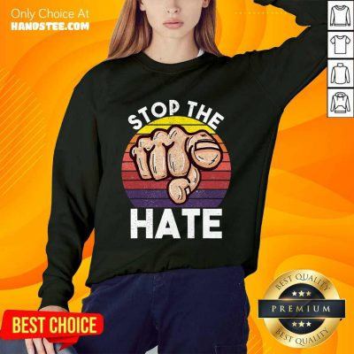 Terrific Stop Asian Hate Hand Vintage Sweater
