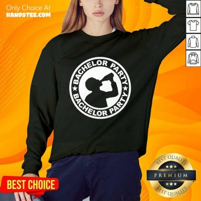Amused Bachelor Party Drinking Wine Bottles Sweater