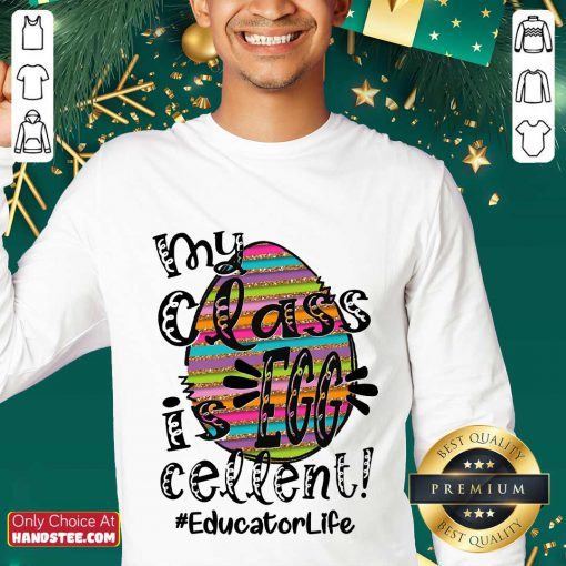 Amused Educator Life My Class Is Egg Cellent Sweater