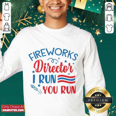 Amused Fireworks Director I Run You Run Sweater