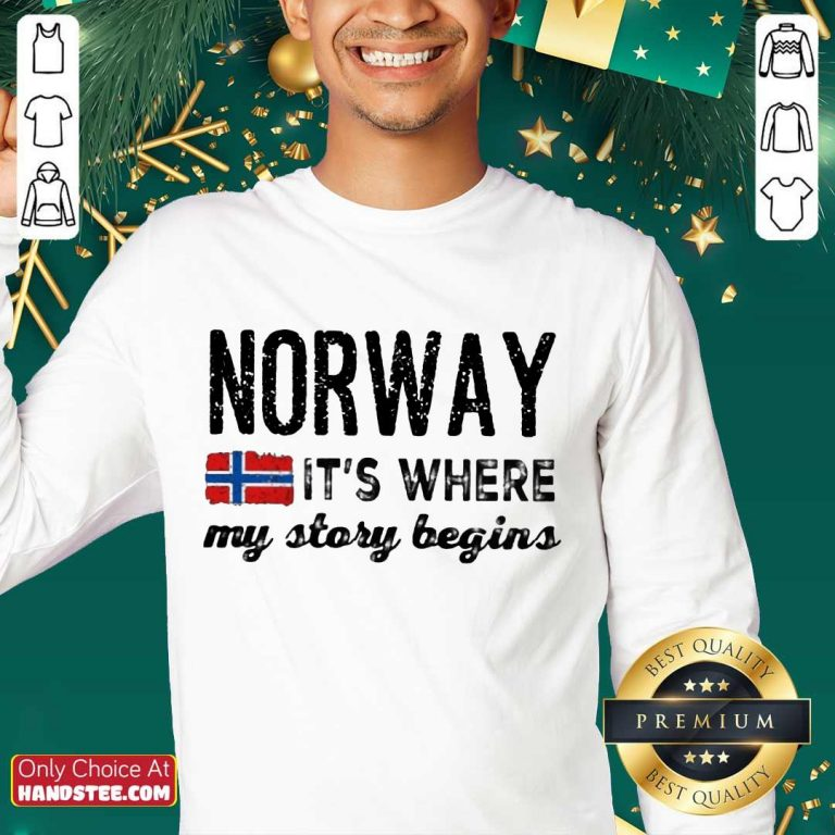 Amused Norway It's Where My Story Begins Sweater