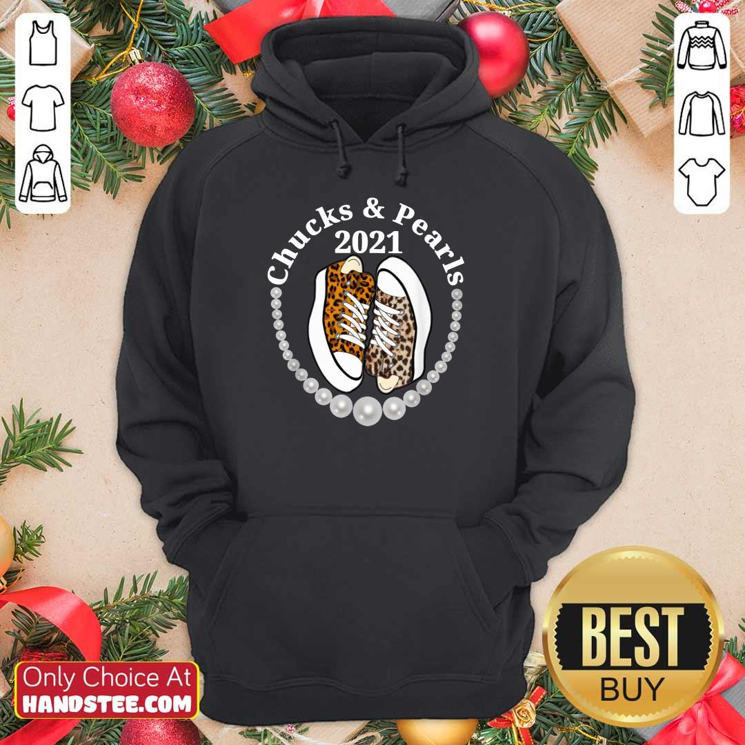 Confident Chucks And Pearls 2021 Leopard Hoodie