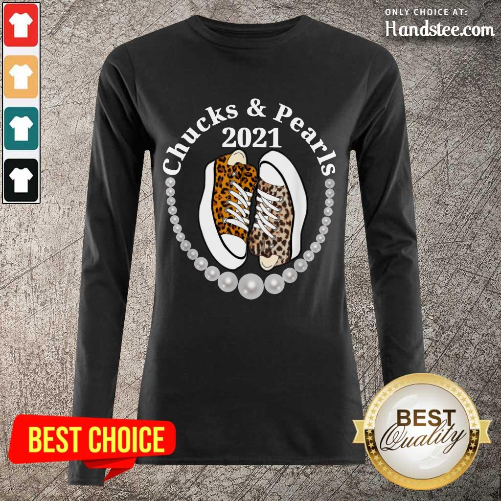 Confident Chucks And Pearls 2021 Leopard Long-Sleeved