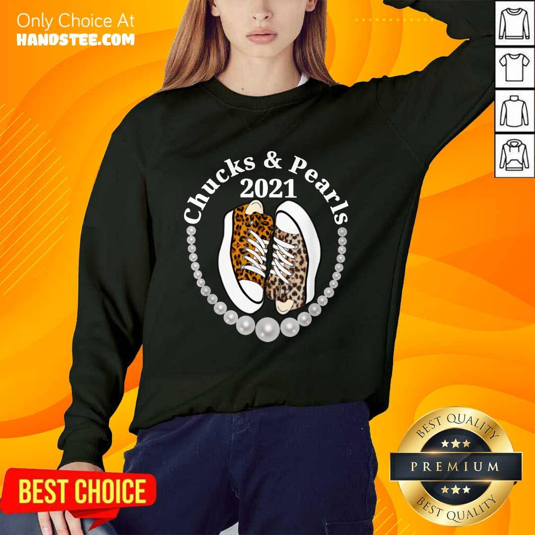 Confident Chucks And Pearls 2021 Leopard Sweater