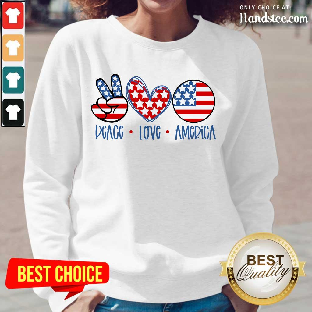 Confident Peace Love America Long-Sleeved