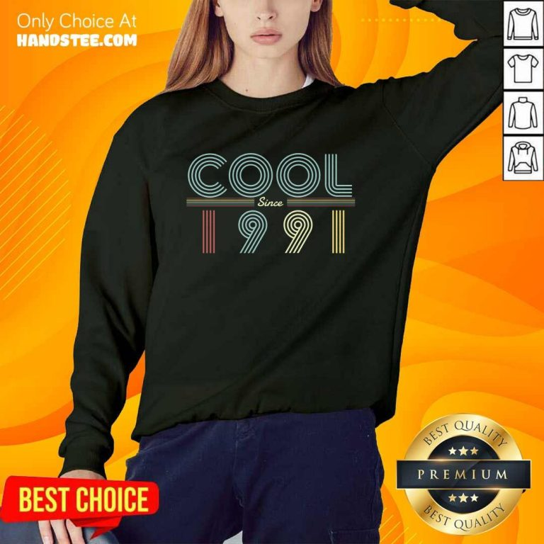 Delighted Cool Since 1991 Birthday Vintage Sweater