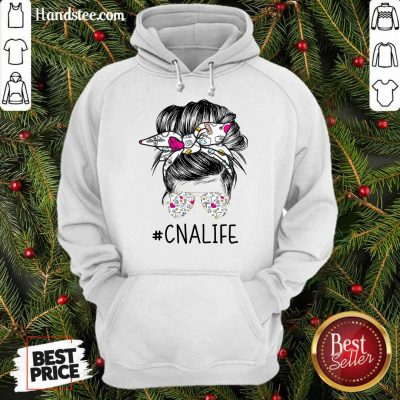 Delighted Girl Bun Hair Glasses CNA Life Hoodie