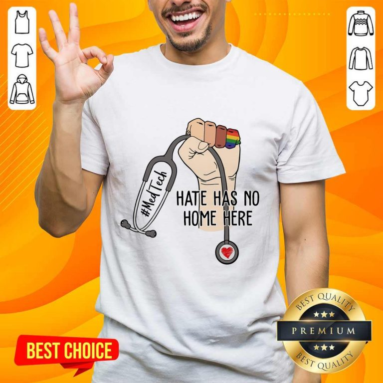 Delighted Med Tech Hate Has No Home Here Shirt